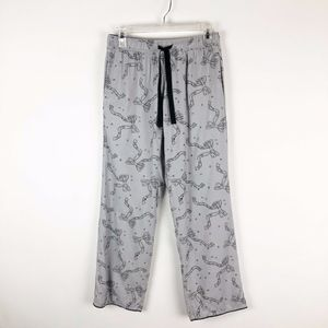 Victoria's Secret Flannel Gray Bowtie Pajama Pants